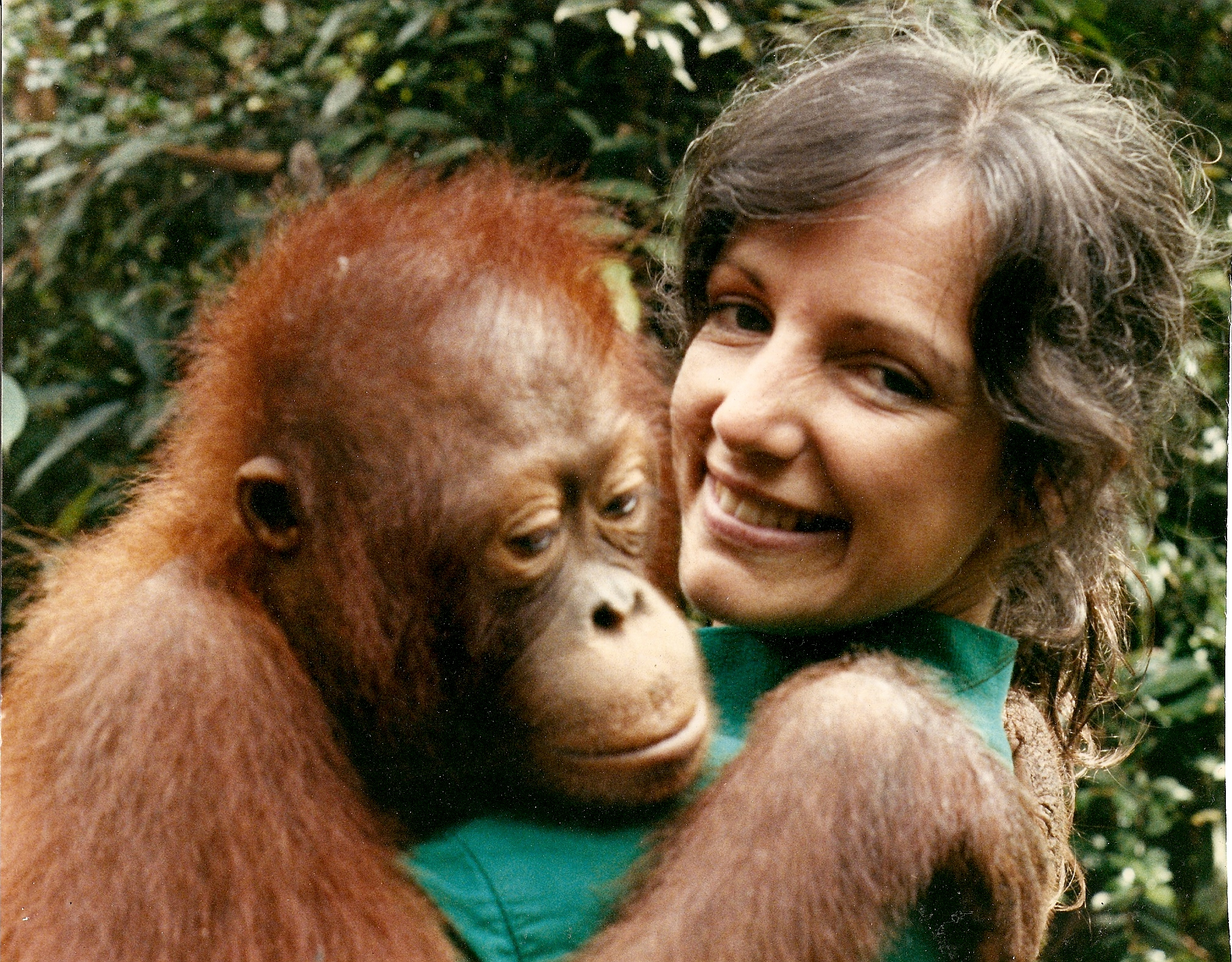 Christine Ranck with Orangutan
